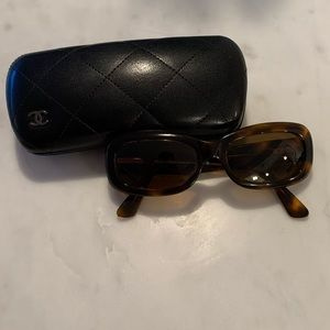 Brown Quilted Chanel Sunglasses